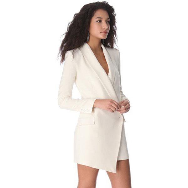 Long White Jacket Dress