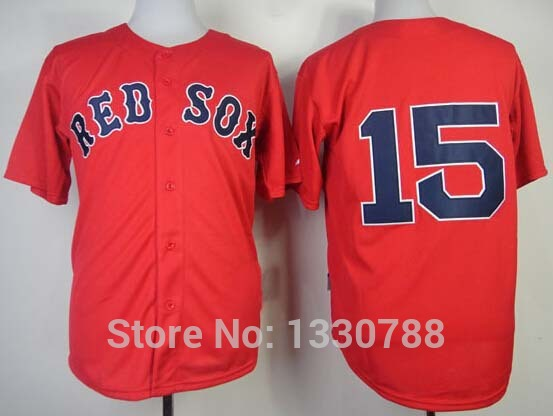 2015 Boston Red Sox #15 Dustin Pedroia Baseball Jersey Red Alternate Home Stitched Cheap Sport Jerseys Shirt M-3XL, Top Quality(China (Mainland))