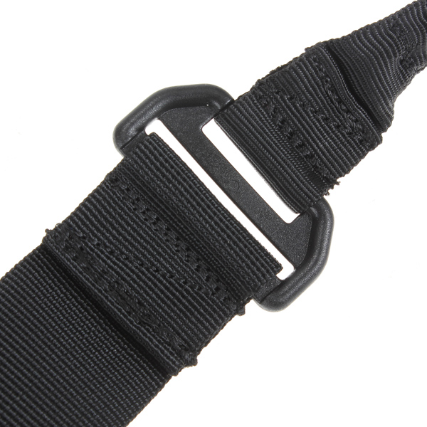 High quality Black Nylon Multi function Adjustable Tactical single point Bungee Rifle Gun Airsoft Sling hunting