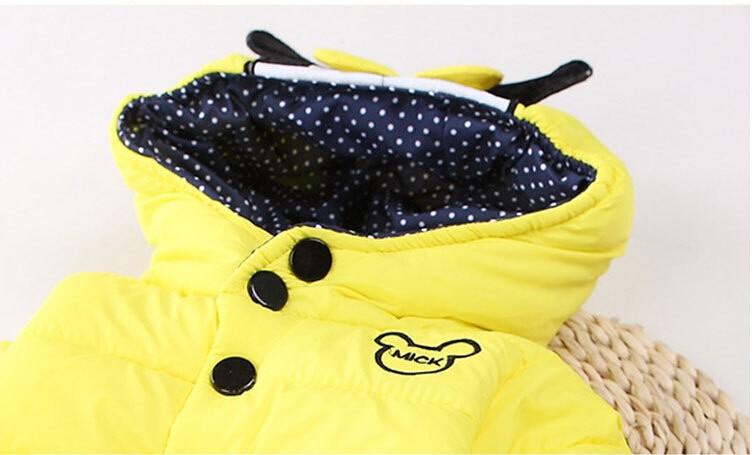 children outerwear winter snowsuit Christmas clothing coats jacket Minnie mouse warm thicken clothes kids down Parkas