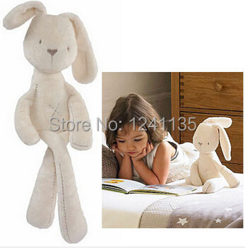 MaMas&papas Cute Rabbit Baby Soft Plush Toys Brinquedos 54CM Plush Rabbit Stuffed Toys White Cheapest Price Best Gift for Kids(China (Mainland))