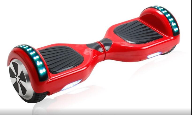 USA DE dropshipping Hoverboard 6.5 inch two Wheels Smart Self Balancing Electric Scooters with Bluetooth speaker and LED Light(China (Mainland))