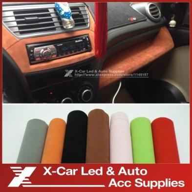 135 30 cm 8 couleurs velours tissu velours film suede for Tissu voiture interieur