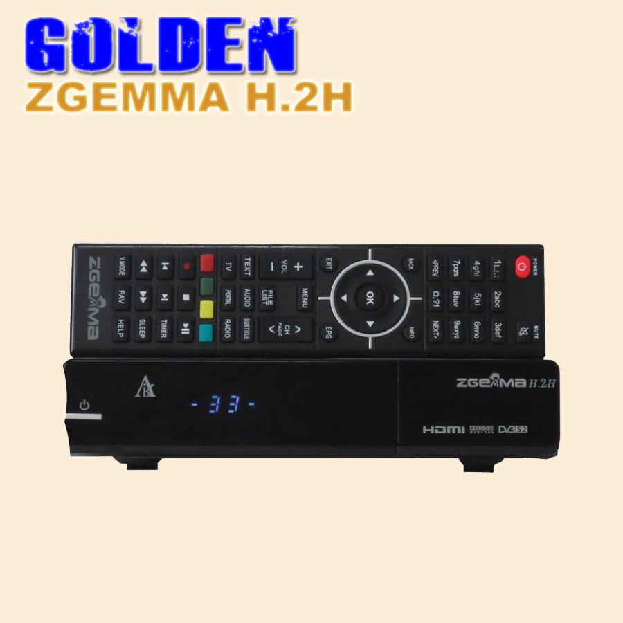 1PC Zgemma Star H.2H Satellite receiver DVB-T2/C tuner enigma 2 linux OS Zgemma-star H.2H Full HD satellite receiver 1pc by DHL(China (Mainland))