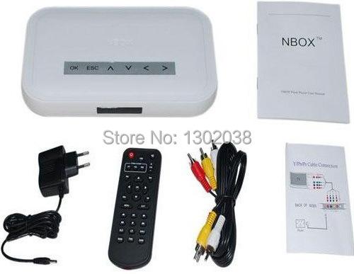 New NBOX RMVB RM MP3 AVI MPEG Divx HDD TV USB Digital Media Memory card HD TV SD CARD Flash HARD DRIVE DISK MEDIA Player Remote(China (Mainland))