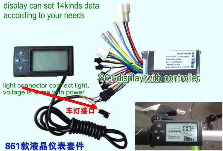 1 phase motor wiring diagram dual voltage 2018 24v36v48v250w350w controller amp lcd display manual #6