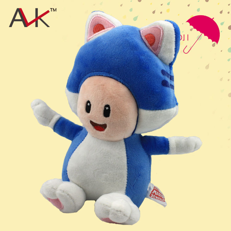 Wholesale 10pcs/lot 20cm Anime Super Mario Brothers Blue Cat Mushroom Plush Toy Doll Mario Bros Stuffed Soft Baby Dolls Kids Toy<br><br>Aliexpress
