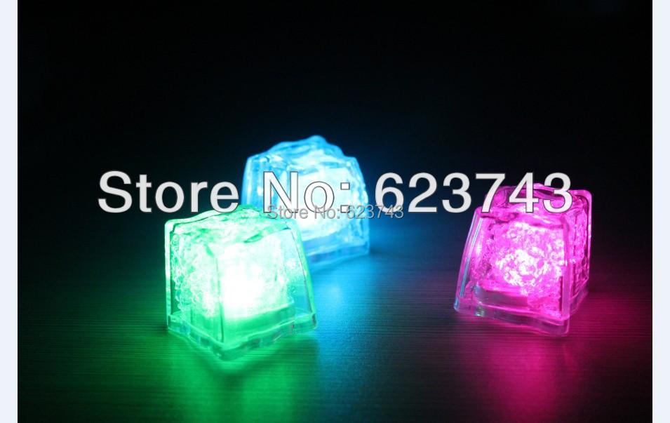 1000Pcs Free Shipping Liquid active Colors Changing LED Night Light ice cube Decoration,Glowing Ice Cube,lighted Ice Led(China (Mainland))