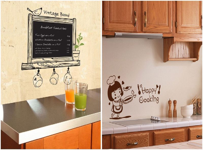 Diy Wall Decor Chalkboard : Cute diy pvc chalkboard wall sticker decor blackboard