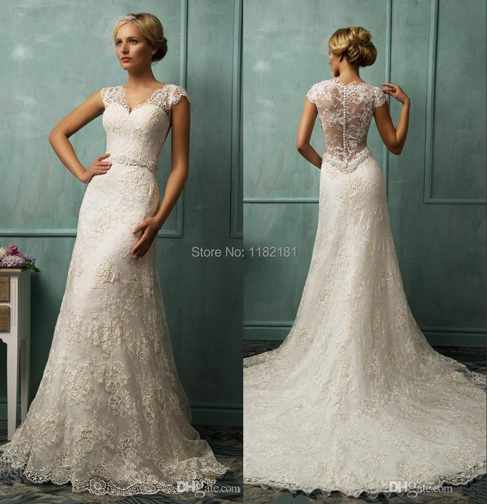 Vestidos de renda novia sweetheart ivory lace bride for Vintage lace dress wedding