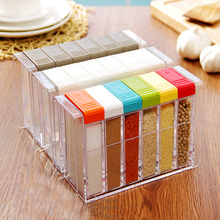 6Pcs/lot Acryl Spice Container Salt and Pepper Set Colorful/White/Coffee Color Seasoning Spice Storage Box Kitchen Container Jar(China (Mainland))