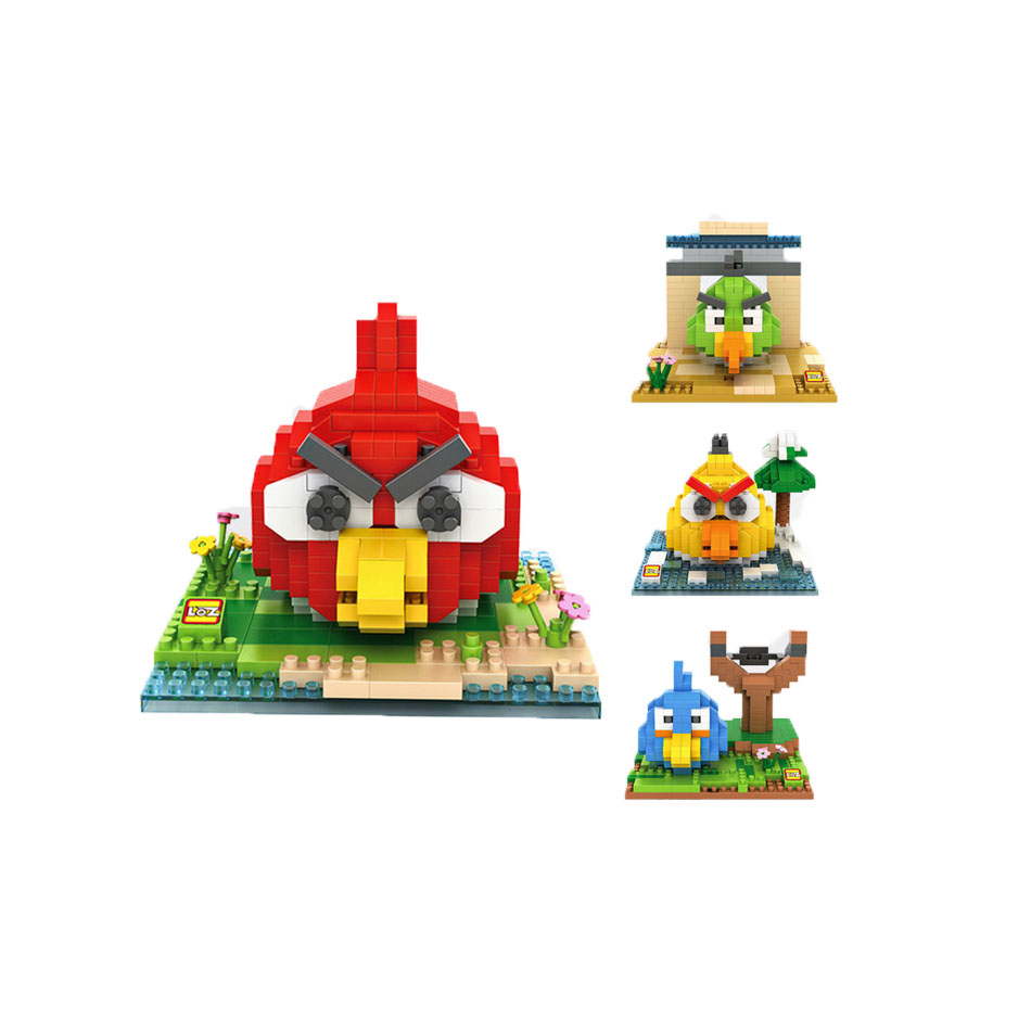 Bird minifigures minecraft building Blocks Pig King Red White education brain game Figure Kids Toys Action 0728(China (Mainland))