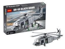 building block set compatible with lego military Black Hawk helicopters 3D Construction Brick Educational Hobbies Toys for Kids