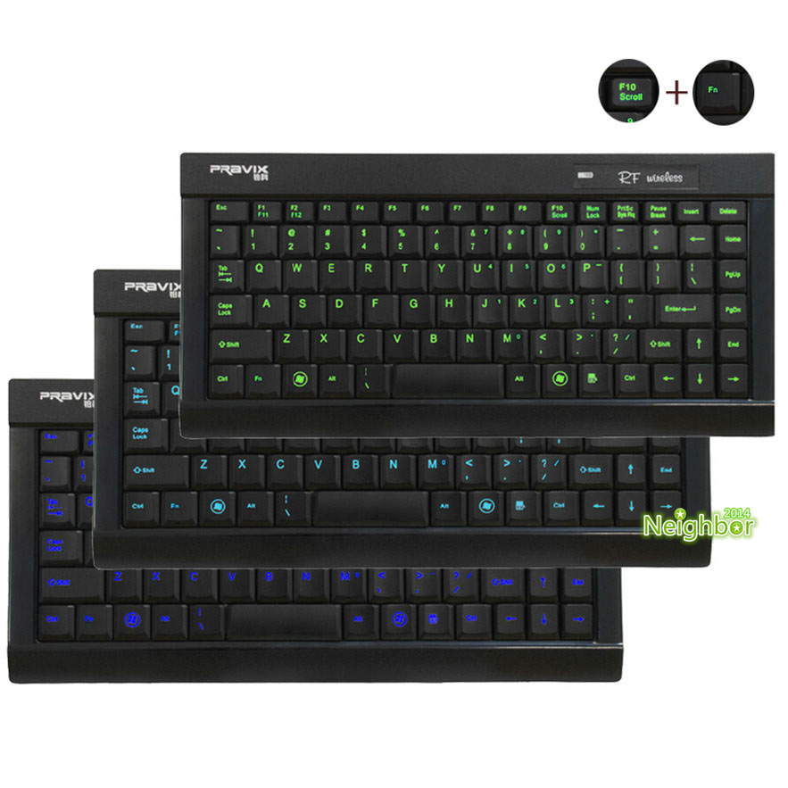 Free Shipping Pravix 3colors Switch Backlit Mini Keyboard LED Illuminated Adjust Backlight USB Wired PC Computer Laptop Keyboard(China (Mainland))
