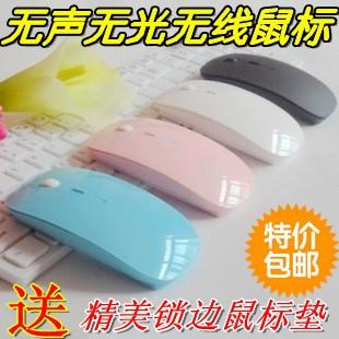 Best Optical laptop wireless mouse ultra-thin mute wireless mouse(China (Mainland))