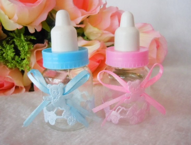 baby shower favours girl boy milk bottles party event supplies
