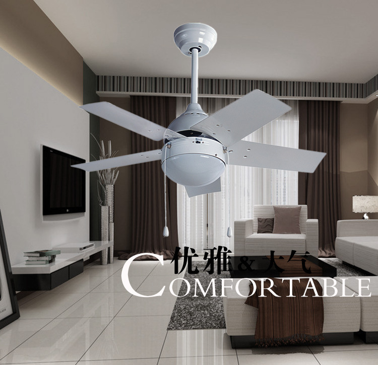 36inch iron leaf fan ceiling fan light simple modern bedroom ceiling light lamp ceiling fan with. Black Bedroom Furniture Sets. Home Design Ideas