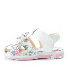 2019 חדש קיץ ילדי נעלי קטן פעוט בנות סנדלי עור נסיכת פרח נעלי תינוק רך ילדים סנדלי עבור בנות 15 -25(China)