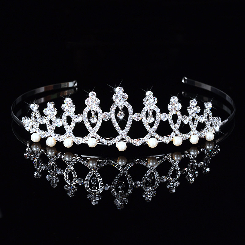 Rhinestone Crystal Wedding Tiaras Head Piece For Bridal Bridesmaid Hair Combs Crown Pearl Evening Headband Barrette DFJ156151(China (Mainland))