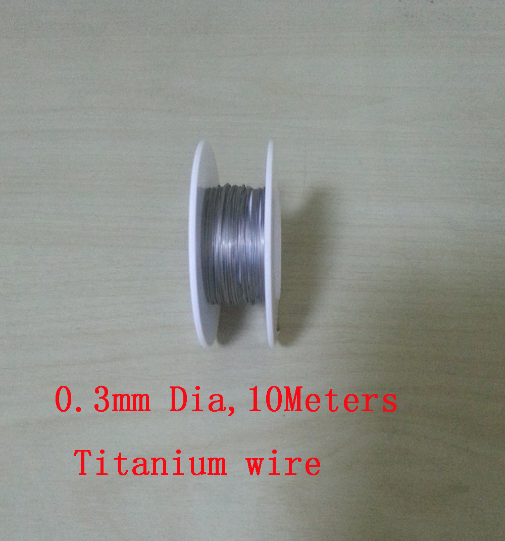 10 meters, 0.3mm Thickness Ta2 Ti Soft Wire Industry Experiment DIY Gr2 Titanium wire(China (Mainland))