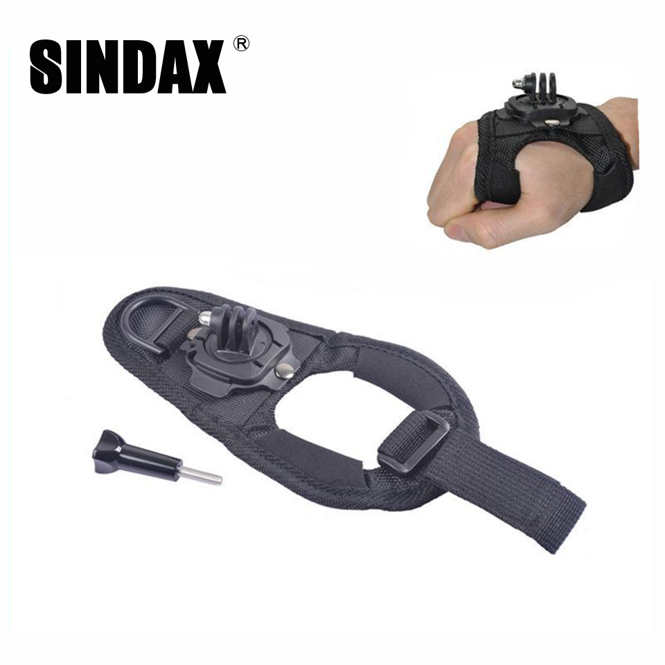 New 360 Degree Rotation Protection Hand Wrist Strap Mount for Gopro Hero 4 3 2 SJ4000 SJ5000 Palm Strip Belt Accessories(China (Mainland))