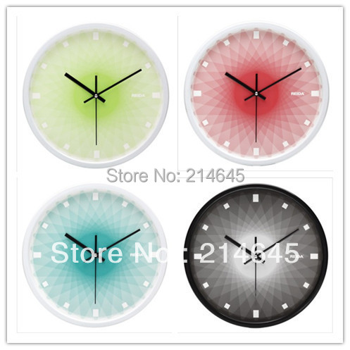 j01/Free shipping 12 inch JiGuangYiCai super mute series metal quartz wall clock