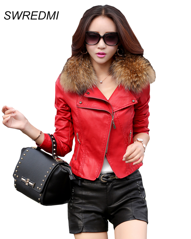 Aliexpress.com : Buy leather jacket women 2016 spring real ...