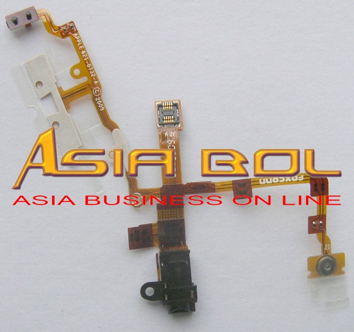 NEW Headphone Jack+Power Button and Volume Flex Cable For 3G 3GS Black(China (Mainland))