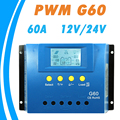 Y SOLAR 60A Solar Controller 12V 24V G60 Backlight LCD Display PWM Solar Panel Regulator with
