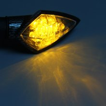 2Pcs 12V 10 LEDs Motorcycle Turn Signal Indicator Light Arrow Shape Motorbike Lamps Energy Saving Long Lifespan for Motorbike(China (Mainland))