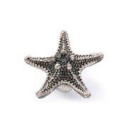New classical European contracted style simple cupboard door drawer knobs ancient silver furniture handle/ top starfish pulls(China (Mainland))