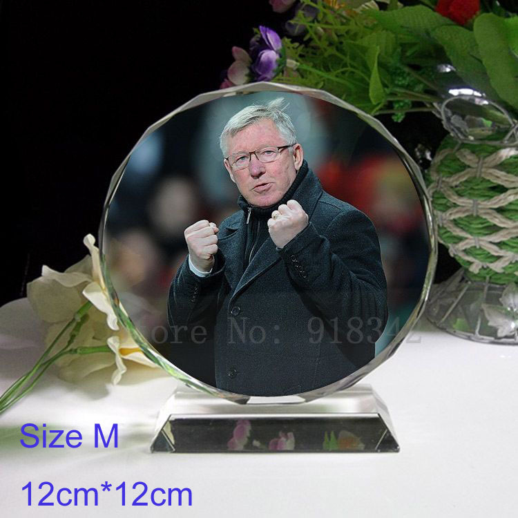 Crystal Coloured Photobook Souvenir - Alex Ferguson Coach Manchester Football Style Size M Home Decoration Gift World store