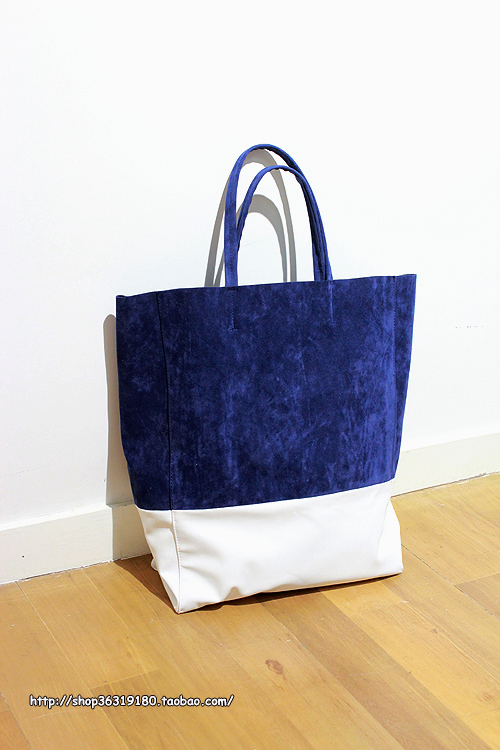 Exclusive hand-made/suede velvet color matching shopping bag tote shopping bag(China (Mainland))