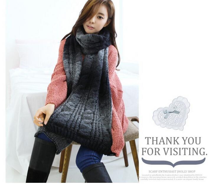 The Sweet Beautiful Girl's Warm Twist Scarf Fashion Wooled Knitting Long Scarves(China (Mainland))