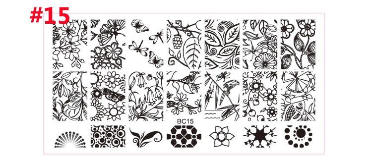 Fashion Series Steel Nail Stamp Stamping Image Konad Plate Print Nail Art Template DIY Beautiful Crown Flowers 2016 New Sale