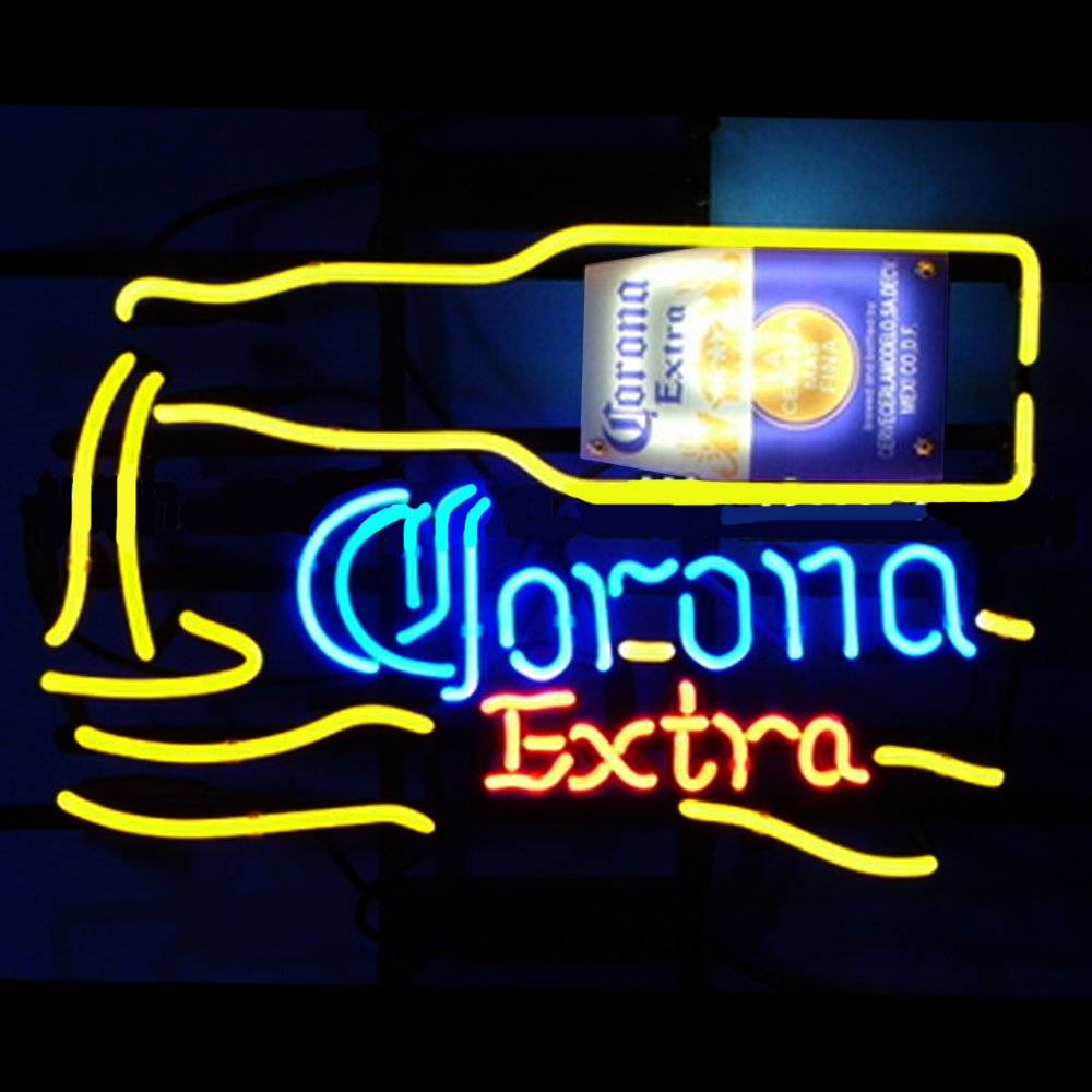 FS Neon Sign CE&UL Corona Extra Handcrafted Neon Light Sign Beerbar Sign Neon Beer Sign 24x20.Free Shipping!(China (Mainland))