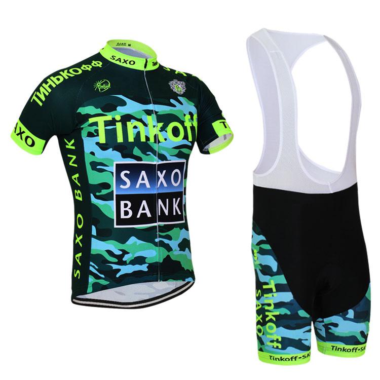 Bicicleta Saxo Bank Tinkoff  2015 New Style Cycling Bicycle Bike Comfortable Jersey Short Shirt Set for Bib Shorts Clothing<br><br>Aliexpress