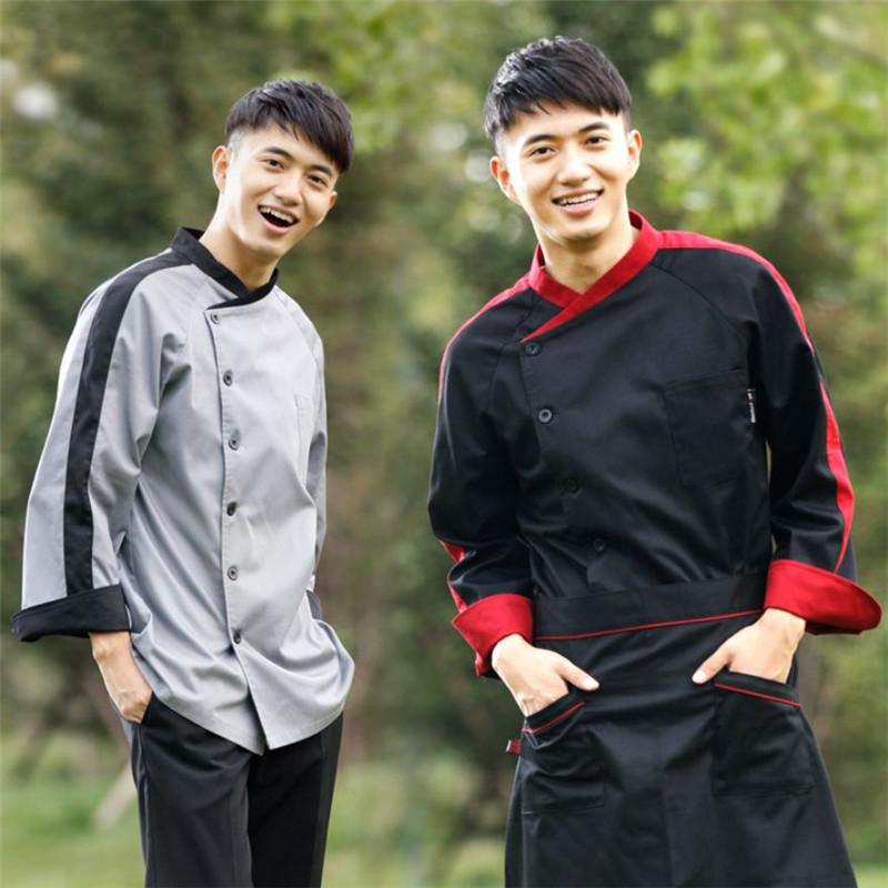 Wholesale Retail Checkedout Custom Logo Solid Chef Uniform Men Women Polyester Cotton Waiters Uniforms S-3XL Free Shipping(China (Mainland))