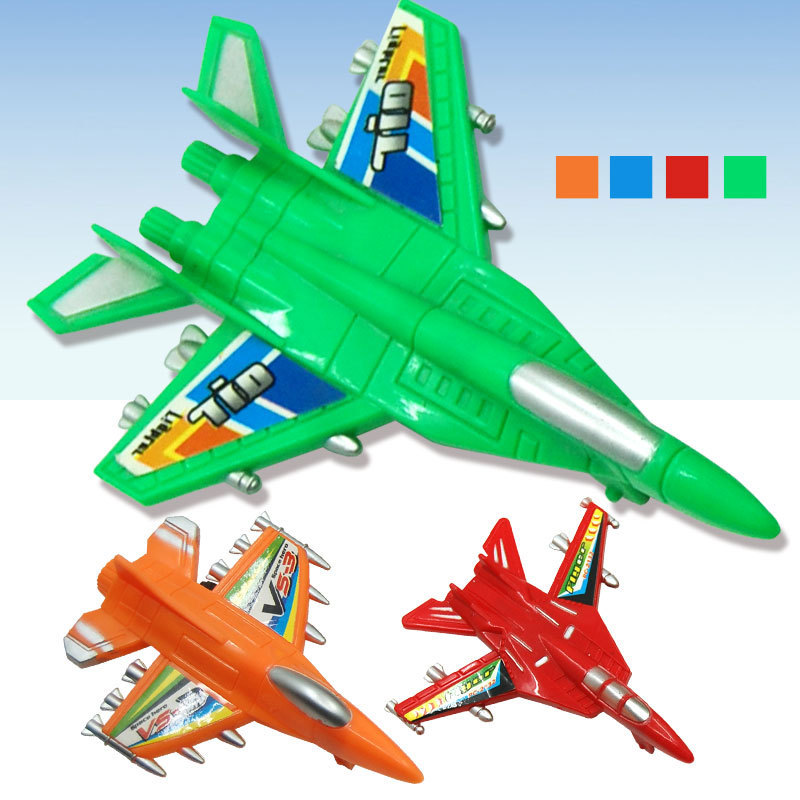 WJA1019 Children's plastic toys wholesale colorful puzzle plane back to force small aircraft Taobao selling 10g Toy vehicles(China (Mainland))