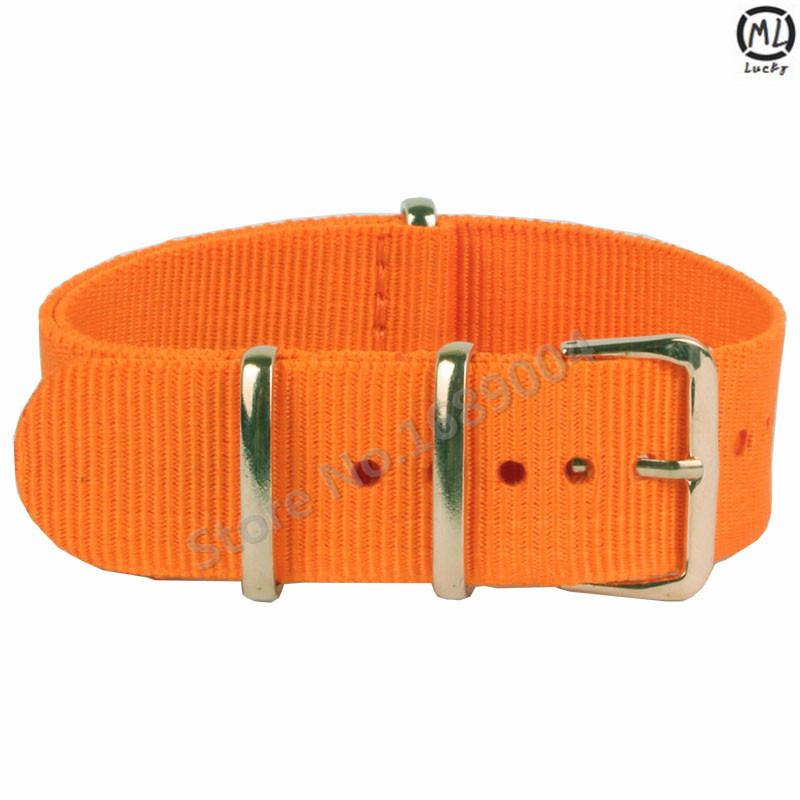 Nylon Nato 18mm 20mm 22mm Fabric Watchband Strap with orange Military Divers Mens Watch Belt for Pebble Sports Hours<br><br>Aliexpress