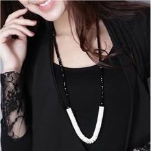 2016 Accesorios elegante con cuentas de cristal collar largo collar de diseño femenino collar largo de la vendimia(China (Mainland))