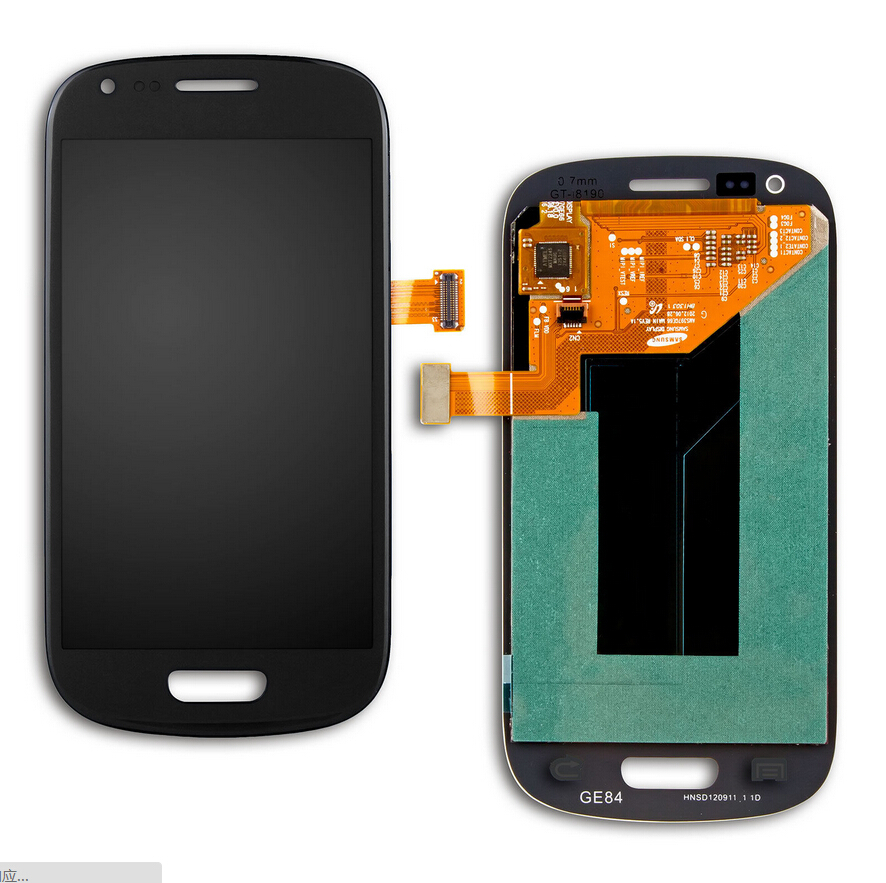 100% New for Samsung I8190 for GALAXY s3 SIII Mini Lcd Touch With Frame Blue& white Free Shipping(China (Mainland))