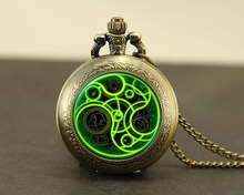 Buy Steampunk UK drama doctor dr tardis time vintage new Necklace 1pcs/lot bronze silver Pendant jewelry pocket watch chain mens for $3.19 in AliExpress store