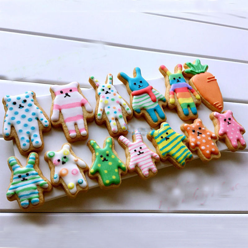 Animals Shaped Metal Biscuit Tools Stainless Steel Cookie Cutters Pastry Decoration Mould for Fondant Cake Party Wedding(China (Mainland))