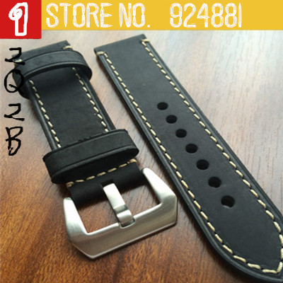 2015 Time-limited 20mm 22mm 24mm 26mm Men`s Women`s Watch Bands Sea Wolf Pilot Hand-made Genuine Leather Watch Strap for pam(China (Mainland))