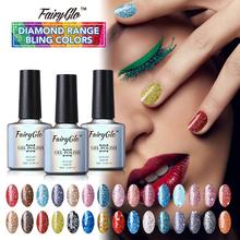 Buy FairyGlo Diamond Range Bling Colors Gel Nail Polish Set 3pcs 1 Top Base Coat 7pcs/lot Nail Art Tool Set Soak Lacquer UV Gel for $10.29 in AliExpress store