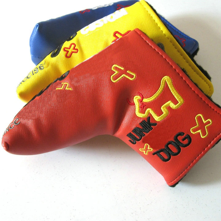 JUNK Putter Cover golf putters head cover golf club putter headcover for golf DOG putter covers(China (Mainland))