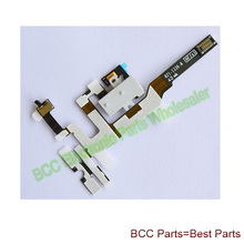 50pcs/lot For Apple iphone 4s 4gs Audio Earphone headphone Jack Flex Ribbon Cable White Original New 1 year Warranty