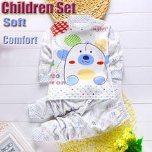 2Pcs Set Newborn Baby Boy Clothes Baby Girl Clothing Kids Clothes Family Clothing Tracksuit Warm Cozy Full Sleeve T-shirt+Pants