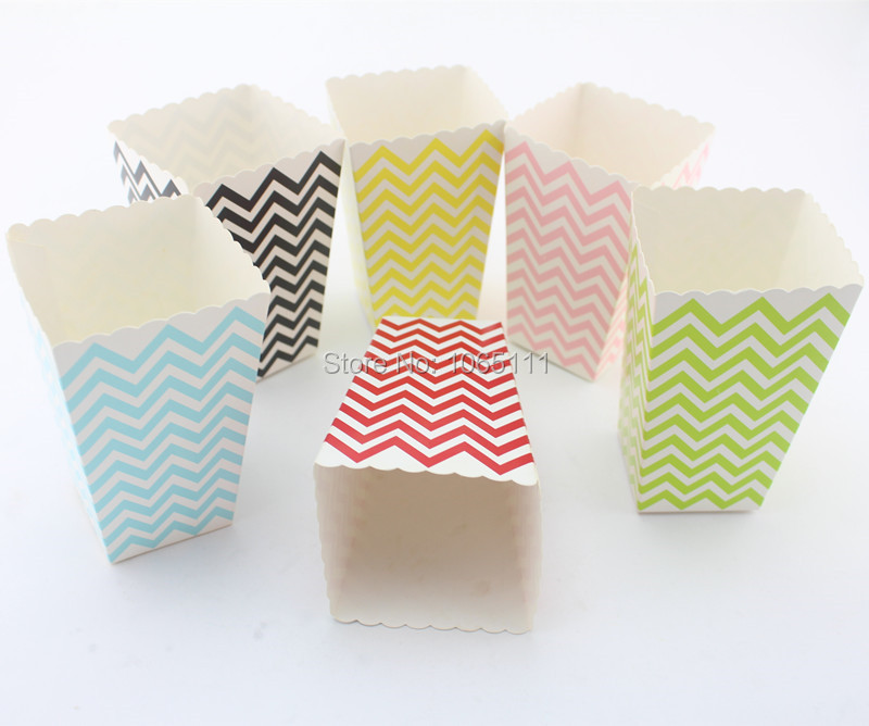 Baby shower favor boxes diy : Free shipping pcs popcorn box ready to pop baby shower